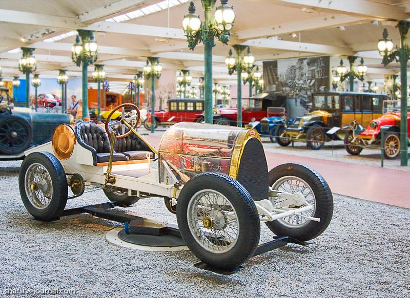 Автомузей; Национальный музей автомобилей, Мюлуз (Mulhouse), Франция; Bugatti Biplace Sport Type 16, 1912; Ролан Гаррос (Roland Garros)